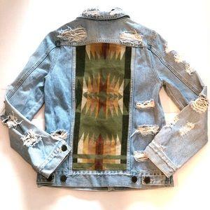 Custom made Pendleton Jeans Jacket Size S